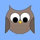 Owl in the Blue by denisethorn