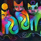 Four pussicats by Karin Zeller