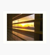 Sunrise through Venetian Blinds Art Print
