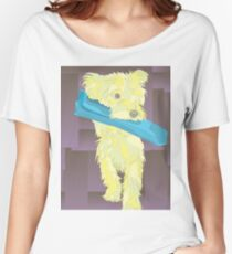 Yellow Yorkie Illustration Women's Relaxed Fit T-Shirt