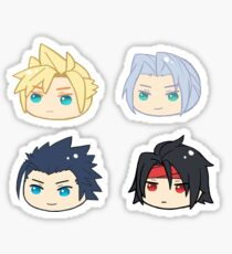 Final Fantasy 7 Cloud Strife Sephiroth Zack Fair Vincent Valentine Sticker