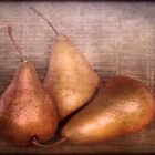 Pears x 3 by Clare Colins