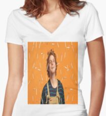 Mac Demarco Cigarettes  Women's Fitted V-Neck T-Shirt