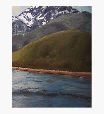 Alaska Mountains Painting Photographic Print