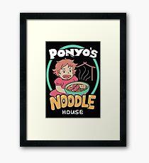 Ponyo's Noodle House Framed Print