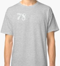VINTAGE NUMBERS 78 R/H Chest (OFF-WHITE) Classic T-Shirt