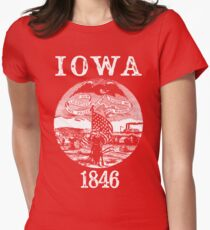 Iowa State Seal Womens Fitted T-Shirt