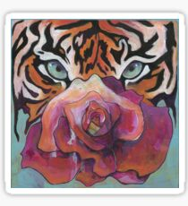 TIGER EYES RED ROSE Sticker