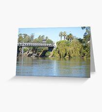 Bridge over the Murray River at Corowa Greeting Card