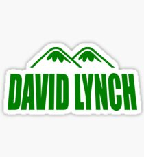 David Lynch Word Logo Sticker