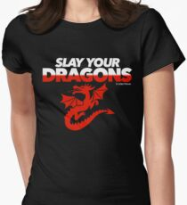Slay Your Dragons (Red2) Women's Fitted T-Shirt