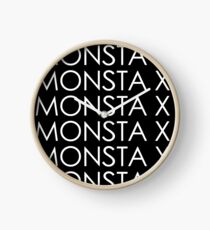 Monsta X The Clan Logo/Font (White) Clock