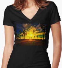 Venice Beach 1/28/16 #2 Women's Fitted V-Neck T-Shirt