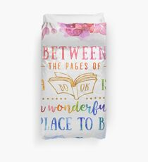 Between the pages Duvet Cover