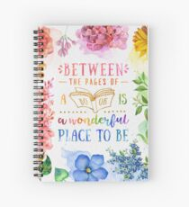 Between the pages Spiral Notebook