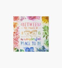 Between the pages Art Board