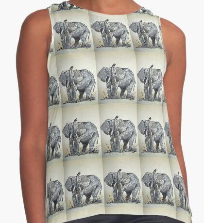 Lodge décor - African Elephant sketch Sleeveless Top