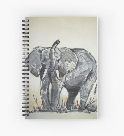 Lodge décor - African Elephant sketch Spiral Notebook