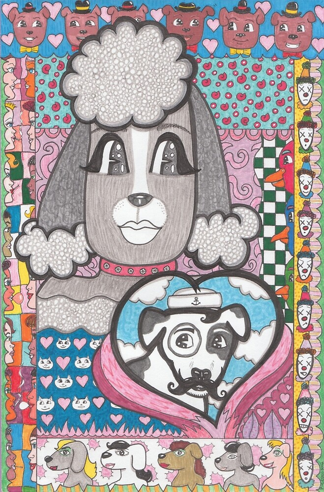 Love poodle misses her sea prince by pieeyes