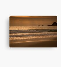 Sun Setting Stripes Canvas Print