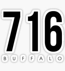 Buffalo, NY - 716 Area Code Sticker