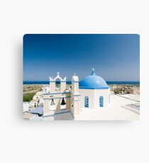 Churches With Blue Roofs Canvas Print