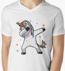Original Unicorn Dab  Men's V-Neck T-Shirt