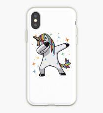 Ursprüngliches Einhorn-Tupfen iPhone-Hülle & Cover