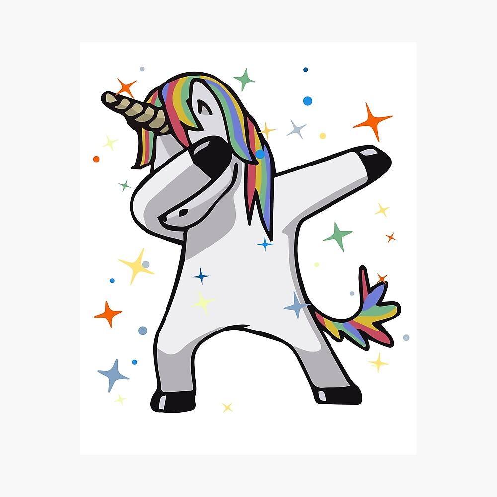 Original unicorn dab photographic print by jgmorga3 redbubble - Unicorn dabbing pictures ...