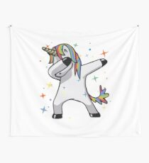 Original Unicorn Dab  Wall Tapestry
