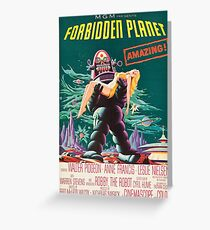 Forbidden Planet, vintage sci-fi movie poster Greeting Card