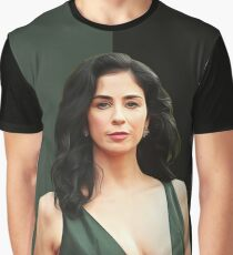 Sarah Silverman - Celebrity (Oil Paint Art) Graphic T-Shirt