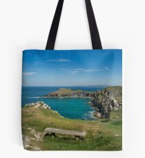 Pentire point and the rumps on the north Cormwall coast Tote Bag