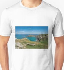 Pentire point and the rumps on the north Cormwall coast Unisex T-Shirt