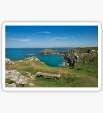 Pentire point and the rumps on the north Cormwall coast Sticker