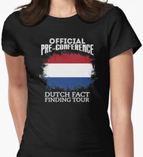 Official Pre-Conference Dutch Fact Finding Tour Womens Fitted T-Shirt