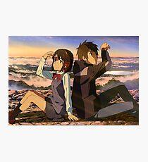 Mitsuha and Taki [Kimi no Na wa.] (Your Name) Photographic Print