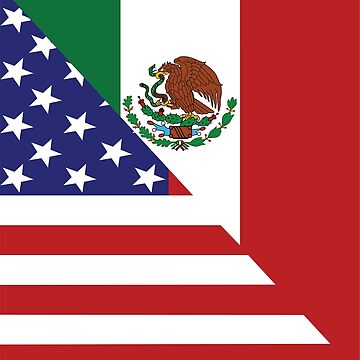 Mexican America Flag by EthosWear