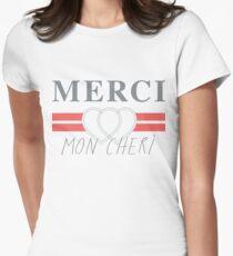 Top Shop Merci Mon Cheri Shirt Women's Fitted T-Shirt