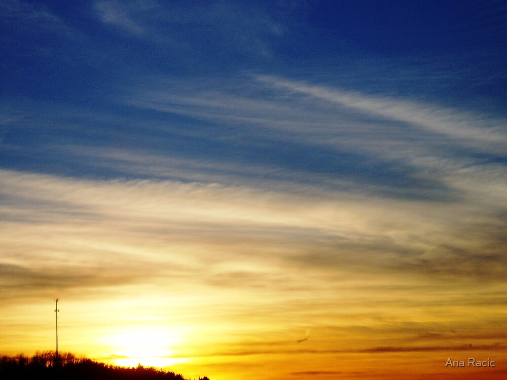 Sunset over West Virginia by Ana Racic
