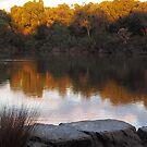lake at dusk by jayview