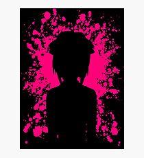Lucy Paint Splatter Inspired Anime Shirt Photographic Print