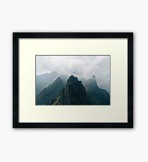 Flying Mountain Explorer - Landscape Photography Framed Print