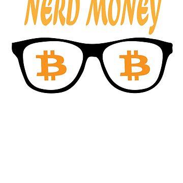 Nerd Money- Bitcoin Crypto Blockchain BTC by curbapparel