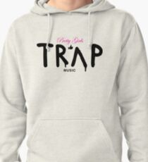 Pretty Girls Like Trap Music - Pink & Black Pullover Hoodie