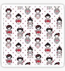 Cartoon Geisha Pattern Sticker