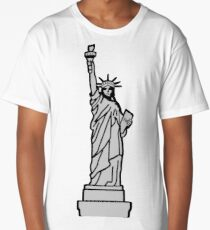 American Statue of Liberty Long T-Shirt