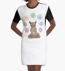 Yoga Cat with Chakras Vestido camiseta
