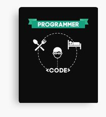 EAT SLEEP CODE Geeky design for Programmers Canvas Print