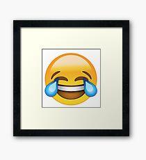 laughing emoji Framed Print